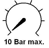 Uvolnění pro maximální tlak až do hodnoty 10 barů