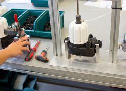 Italflexo - opracování upevnění tlakové nádoby BRIO TANK