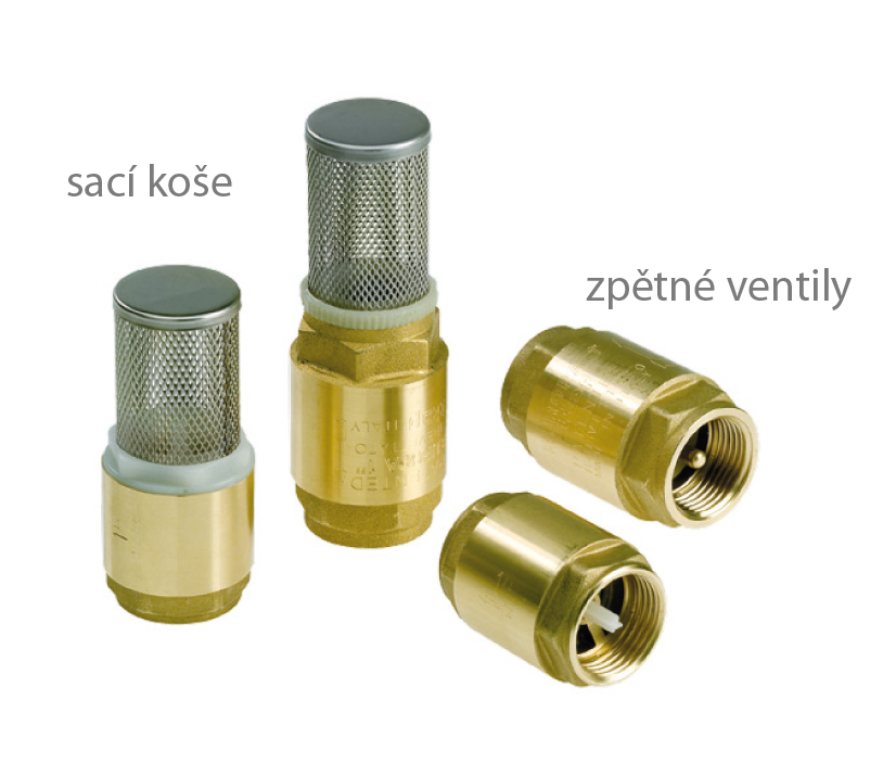 Check valve and foot valves in brass